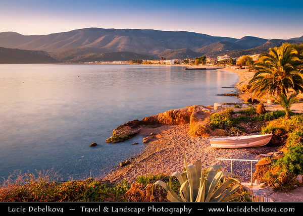 Southern Europe - Greece - Peloponnese peninsula - Loutra Elenis - Charming town beach situated on coast of Saronic Gulf, about 10 km southeast of Corinth