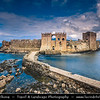 Southern Europe - Greece - Peloponnese peninsula - Methoni - Castle of Methoni - Medieval fortified city & one of most important & most beautiful castles in Greece, built by Venetians after 1209AD