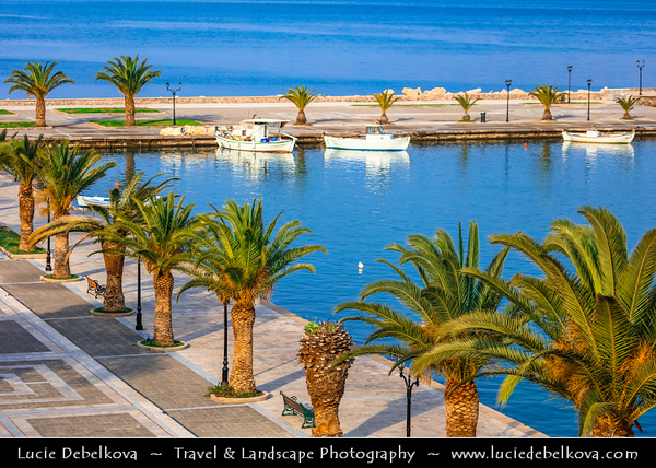 Southern Europe - Greece - Peloponnese peninsula - Nafplio - Náfplion - Navplion - Seaport historical town near north end of Argolic Gulf with Medieval atmosphere - One of most beautiful towns in eastern Peloponnese