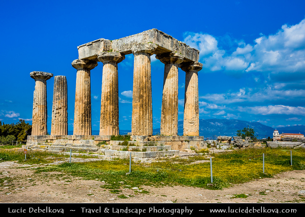 Southern Europe - Greece - Peloponnese peninsula - Corinth - Ancient Corinth - Κόρινθος - Kórinthos - Ancient ruins of one of largest & most important cities of Old Greece