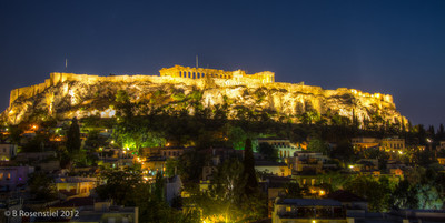 Before Dark, The Acropolis, Athens, Greece, 2012