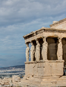 Caryatids, Acropolis, Athens, Greece, 2012