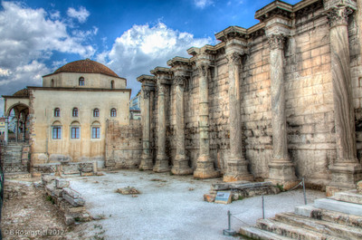 Hadrian's Library, Athens, Greece, 2012