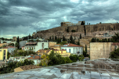Rainy View from the Museum, The Acropolis, Athens, Greece, 2012