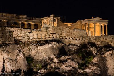 Night View, The Acropolis, Athens, Greece, 2012