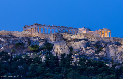 Early Morning Blue, The Acropolis, Athens, Greece, 2012