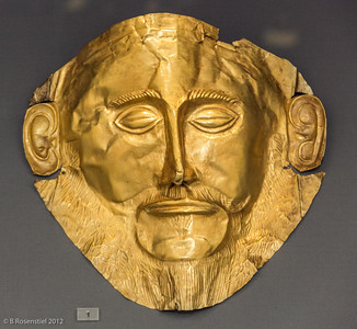Burial Mask of Agamemnon, Athens Museum, Greece, 2012