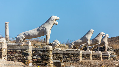 Naxos Lions, Delos, Greece, 2012