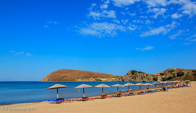 Beach Umbrellas, Myrina, Lemnos, Greece, 2012