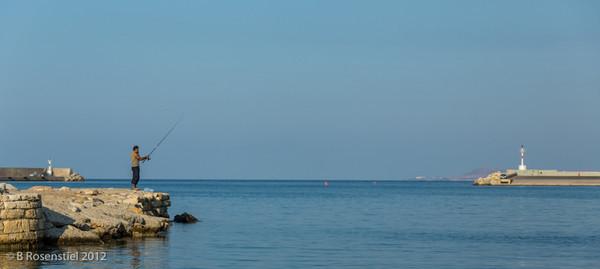 Fishing, Rethymnon, Crete, Greece, 2012