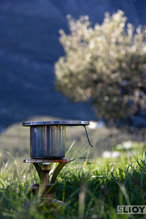 camping stove backpacking on the Crete E4