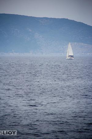 Sailing the Saronic Gulf.<br /> <br /> Attica, Greece