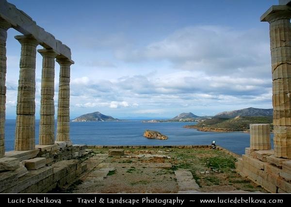 Greece - Cape Sounion - Aκρωτήριο Σούνιο - Akrotírio Soúnio - Ancient Greek Temple of Poseidon