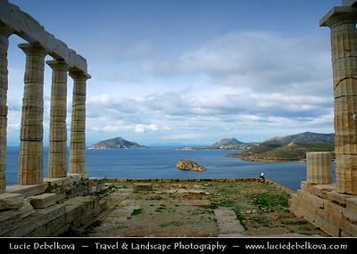 Greece - Cape Sounion - Aκρωτήριο Σούνιο - Akrotírio Soúnio - Ancient Greek Temple of Poseidon