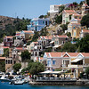 Main harbour of the island of Symi, Greece.
