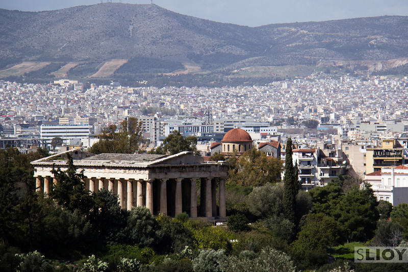 Temple of Hephaestus and the Ancient Agora.<br /> <br /> Athens, Greece