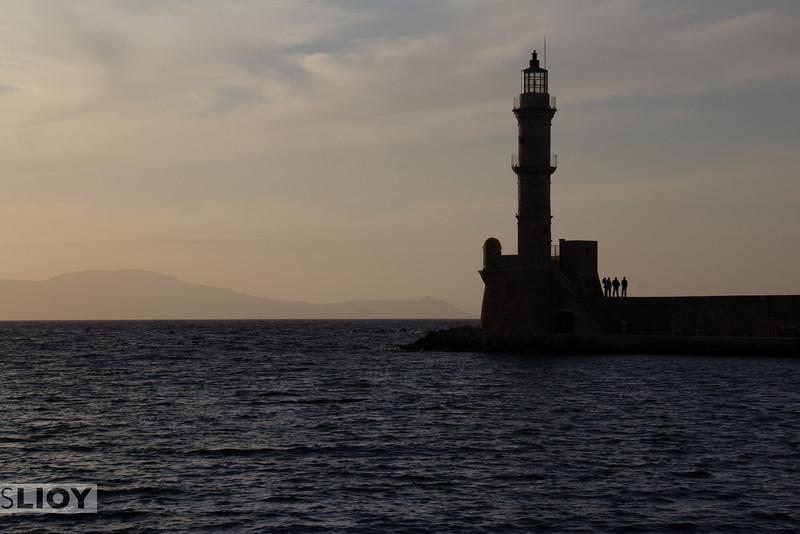Chania harbor.<br /> <br /> Crete, Greece