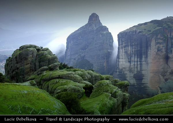 Greece - Metéora - Μετέωρα - Suspended rocks - Suspended in the air - In the heavens above - UNESCO World Heritage Site - One of the largest & most important complexes of Eastern Orthodox monasteries in Greece, second only to Mount Athos