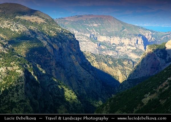 Greece - Peloponnese Peninsula - The Lousios Gorge - Λούσιος - In Western Arcadia that stretches from Karytaina north to Dimitsana