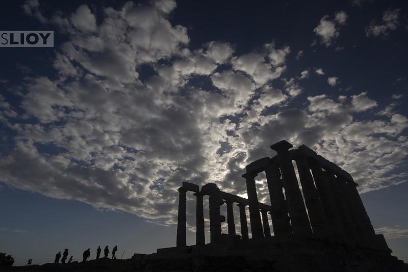 Poseidon Temple at Cape Sounion.<br /> <br /> Attica, Greece