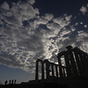 Poseidon Temple at Cape Sounion.<br /> <br /> Attica, Greece