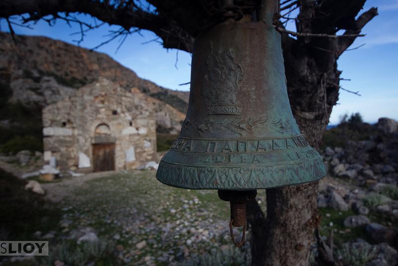 Ruined church at Lissos.<br /> <br /> Crete, Greece