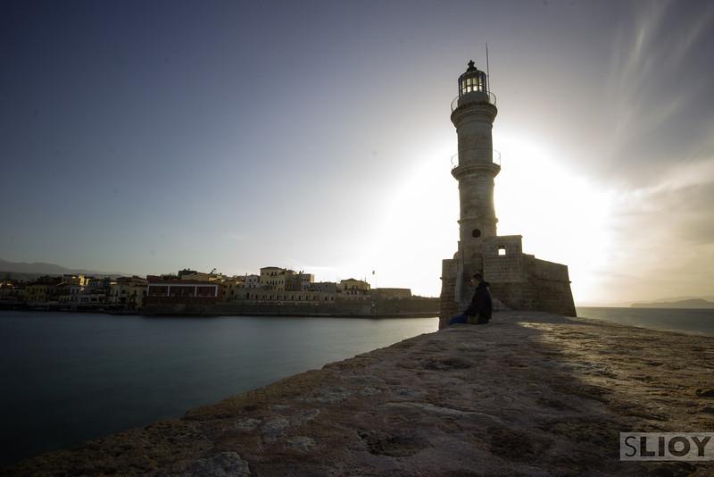 Chania lighthouse.<br /> <br /> Crete, Greece