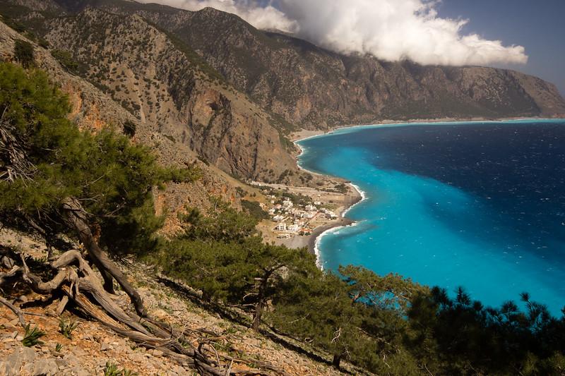 Above Agia Roumeli on the E4 trail.<br /> <br /> Crete, Greece