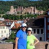 Michael and Robin, with Heidelberg Castle