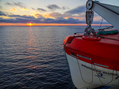 Calm seas and colorful sunset
