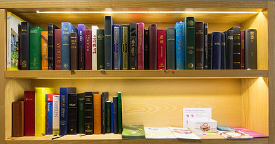 Bibles in many different languages.
