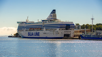 One of the giant ferries that cross the Baltic Sea.