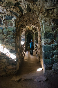 Passages inside the frotress walls