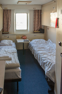 "Our ""deluxe"" stateroom on the St. Peter Line"