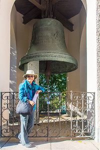 The largest church bell in Finland. Cast in Moscow in 1885, it weighs 6683 kilos.