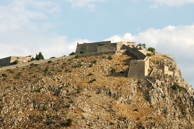 The fortress of Palamidi is a true architectural masterpiece. This fort was built during the Venetian occupation in the early 19th century and consists of eight bastions, each was self contained, ensuring that if one bastion was breached the others could still be separately defended. The bastions were built one on top of the other and they all connected with one wall. The Venetians named the bastions by ancient Greek names, such as Leonidas, Miltiades, Achilles, Themistocles, to give emphasis on the strenght of the castle. Palamidi was also used as a prison for a period of time. In 1833, Theodoros Kolokotronis, one of the Revolution leaders was imprisoned here, charged with high treason. Prisoners were made to do physical labor and the 999 steps leading up to the fort were in fact built by the prisoners under the supervision of the Bavarian army.
