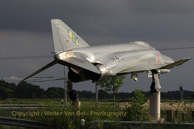 Spooky atmosphere, isn't it? Just seconds before the storm broke out, a few rays of sun illuminated this F-4F Phantom II, preserved at a crossroads near the town of Wittmund, close to Wittmundshafen AFB.