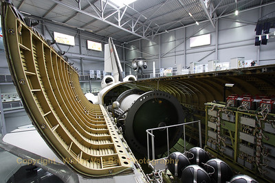 View into the inside of Buran OK-GLI, now preserved at the Technik Museum Speyer (Germany).