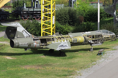This German Air Force F-104G Starfighter (25+66, cn 683-9012) is preserved - but partially dismantled - at the Technik Museum Speyer.