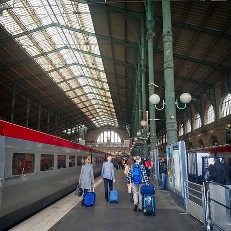 Thaleys TGV - Rotterdam to Paris crusing at 185mph.