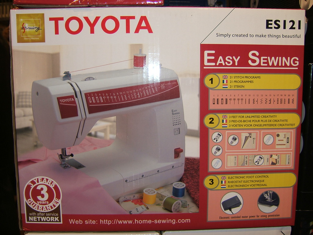 Yep, Toyota makes sewing machines, they just don't sell thm in the US.