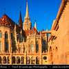 Hungary - Magyarország - Budapest - Capital City - UNESCO World Heritage Site - Matthias Church - Mátyás-templom situated on the Buda bank of the Danube, on the Castle hill in Budapest