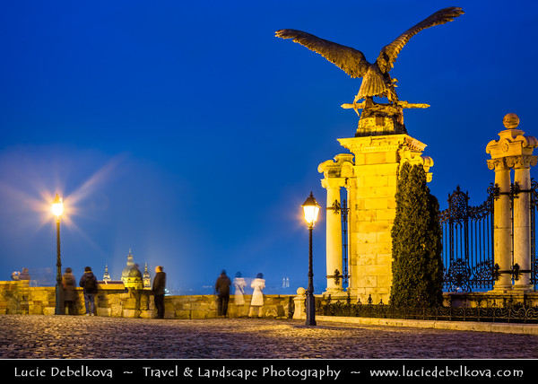 Europe - Hungary - Magyarország - Budapest - Capital City - UNESCO World Heritage Site - Buda Castle - Budavári Palota - Burgpalast - Historical castle & palace complex of the Hungarian kings on the southern tip of Castle Hill
