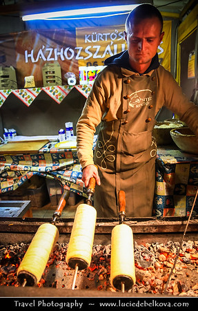 Europe - Hungary - Magyarország - Budapest - Capital City - UNESCO World Heritage Site - Traditional Christmas Winter Markets in front of St Stephen's Basilica - Szent István-bazilika - Roman Catholic basilica & Budapest's largest church which houses Hungary's most sacred relic