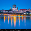 Hungary - Magyarország - Esztergom - Exterior of the Neo Classical Esztergom Basilica - Esztergomi Bazilika - The mother church of the Archdiocese of Esztergom-Budapest & seat of the Catholic Church in Hungary on banks of River Danube - Dunaj