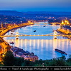 Europe - Hungary - Magyarország - Budapest - Capital City - UNESCO World Heritage Site - Danube Cityscape with Hungarian Parliament Building - Seat of the National Assembly of Hungary on eastern banks of River Dunaj