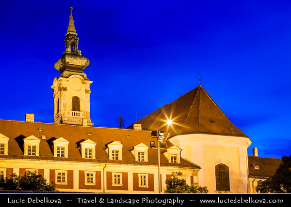 Hungary - Magyarország - Budapest - Capital City - Traditional Church - Twilight - Dusk - Blue Hour