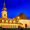 Hungary - Magyarország - Budapest - Capital City - Traditional Church - Twilight - Dusk - Blue Hour