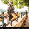 Hungary - Magyarország - Budapest - Capital City - Little Princess - Lovely little statue by László Marton on the Danube Corso