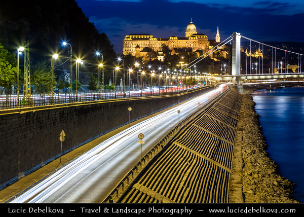 Hungary - Magyarország - Budapest - Capital City - UNESCO World Heritage Site - Buda Castle - Budavári Palota - Burgpalast - Historical castle and palace complex of the Hungarian kings on the southern tip of Castle Hill